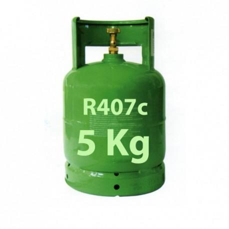 GAZ R407c BOUTEILLE 5 KG RECHARGEABLE