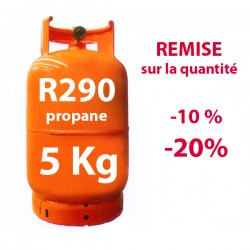 GAZ R290 (propane) 5 kg BOUTEILLE RECHARGEABLE