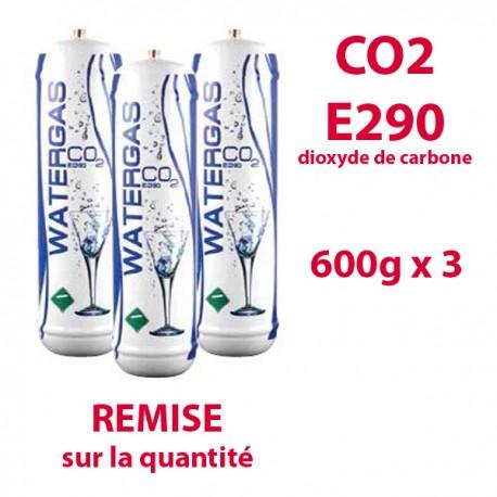 C02 E290 600g x3 BOUTEILLES dioxyde de carbone