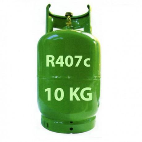 GAZ R407c BOUTEILLE 10 KG RECHARGEABLE