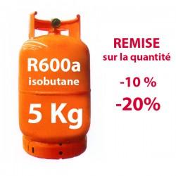 GAZ R600a (isobutane) 5 kg BOUTEILLE RECHARGEABLE