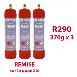 GAZ R290 (propane) 370g x3 BOUTEILLES